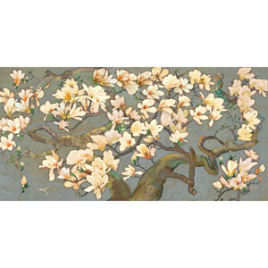 Magnolia Branches IV 24 x 12 In. Painting Print on Wrapped Canvas