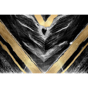 Golden V 30 x 20 In. Painting Print on Wrapped Canvas