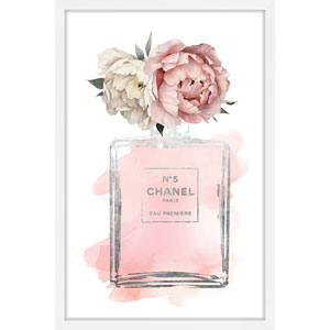 Floral Peony 24 x 36 In. Framed Painting Print