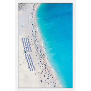 Beach Gathering 16 x 24 In. Framed Painting Print