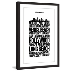 Mulholld Drive 12 x 18 In. Framed Painting Print