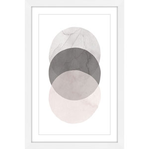 Three Circles 24 x 36 In. Framed Painting Print