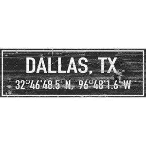 Dallas 45 x 15 In. Painting Print on White Wood