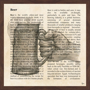 Beer Toast 24 x 24 In. Framed Painting Print