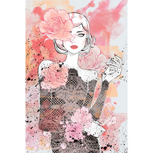 Floral Girl 12 x 18 In. Painting Print on Wrapped Canvas