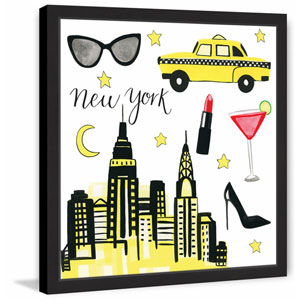 NYC Chic 12 x 12 In. Framed Painting Print