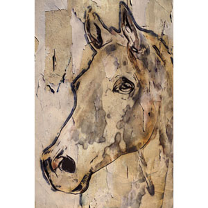 Winner Horse 30 x 45 In. Painting Print on Wrapped Canvas