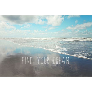 Find Your Dream 36 x 24 In. Painting Print on Wrapped Canvas