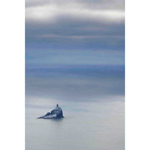 Tillamook Rock Lighthouse 12 x 18 In. Painting Print on Wrapped Canvas