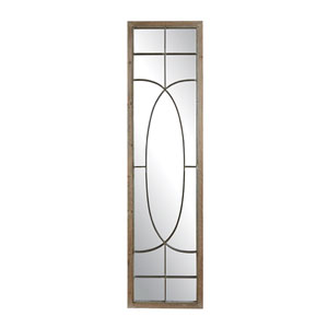Collected Notions Wood Mirror with Metal Accents
