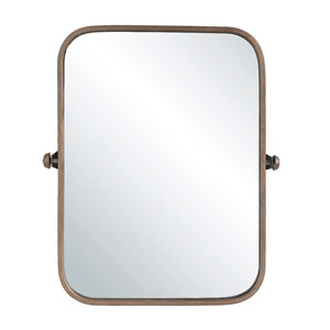 Sonoma Metal Framed Pivoting Wall Mirror with Copper Finish