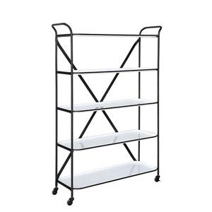 Shoreline White Metal 5 Tier Shelf