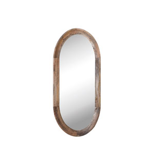 Shoreline Oval Wall Mirror with Mango Wood Frame
