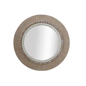 Bungalow Lane Round Decorative Wood Wall Mirror