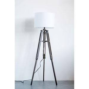 Sonoma Black Mariner Wood Tripod Floor Lamp with Shade