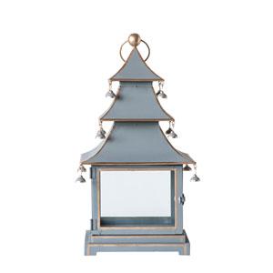 Chateau Metal and Glass Pagoda Lantern with Handle