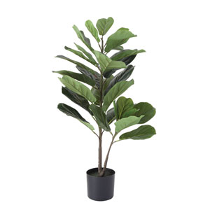 Collected Notions Potted Faux Fiddle Fig Leaf Plant