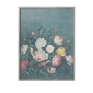 Chateau Multicolor Floral Wood Framed Wall Decor