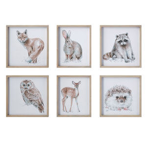 Little One Multicolor Animal Portrait Wood Wall Decor - Set of 6