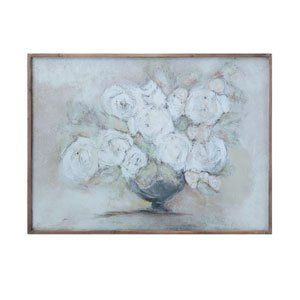 Bungalow Lane Flowers in Vase Wood Framed Wall Decor