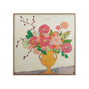 Gallery Flowers in Yellow Vase Wood Framed Wall Decor