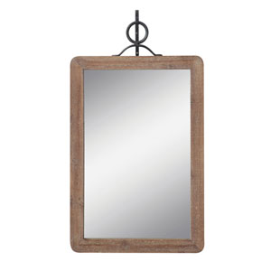Sonoma Large Wood Framed Rectangle Wall Mirror with Black Metal Hanging Bracket - Set of 2