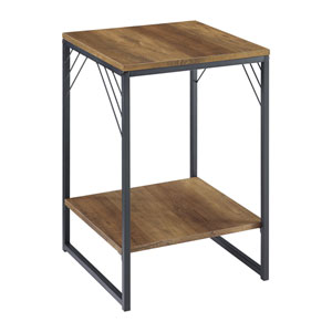 Troy Barnwood and Black Side Table