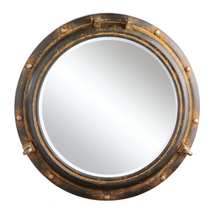 Round 22 In. Metal Porthole Mirror