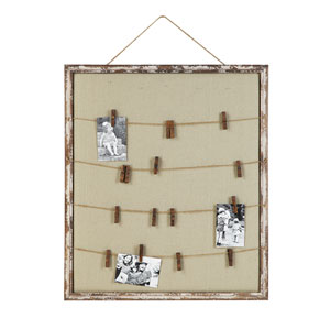 Fabric Memo Holder with Twine and Sixteen Pins