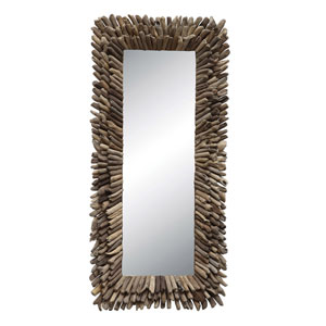 Rectangular Driftwood Framed Mirror