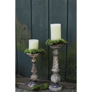 Shop Tall Wood Floor Candle Holders Bellacor