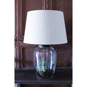 Glass Fillable Table Lamp