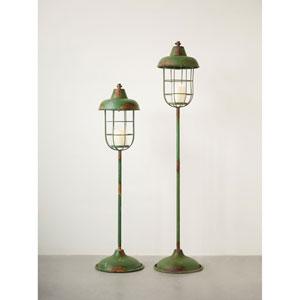 Short Metal Standing Lantern Pillar Holder
