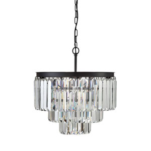 Crystal Eight-Light Round Chandelier