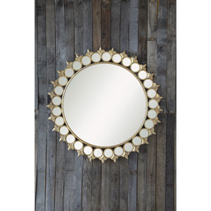 Gold Round Framed Mirror