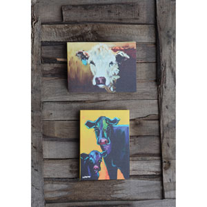 Cow Canvas Wall Décor