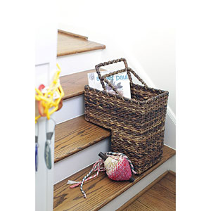 BacBac Leaf Woven Stair Basket