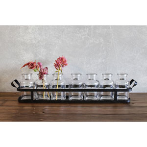 Metal Tray with Glass Bottles