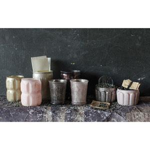 Pinks Mercury Glass Votive Holders, Set of Eight