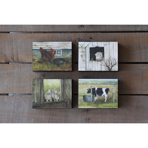 Block Barn Animals, Set of Four
