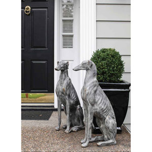 Gray Stone Magnesia Dog Looking Right