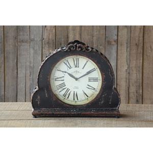 Black Metal Mantle Clock