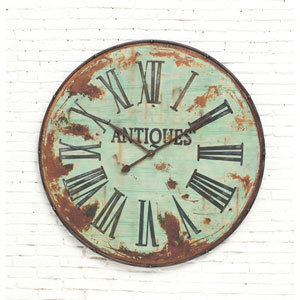Green 41 In. Round Metal Wall Clock