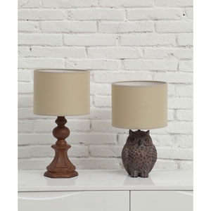 Distressed Brown Owl Lamp