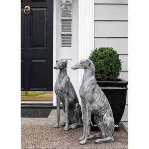 Gray Stone Magnesia Dog Looking Left