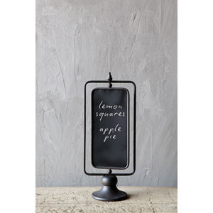 Metal Two-Sided Chalkboard on Stand