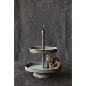 Zinc Metal Two-Tier Tray