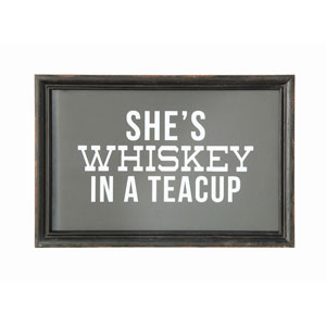 Shes Whiskey In A Teacup Wood Wall Decor