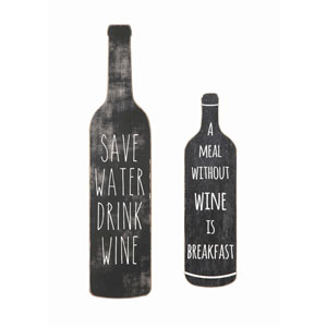 Save Water, Drink Wine Wall Décor