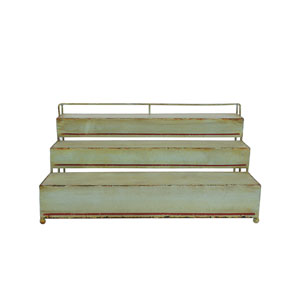 Green Metal Three-Tier Rack